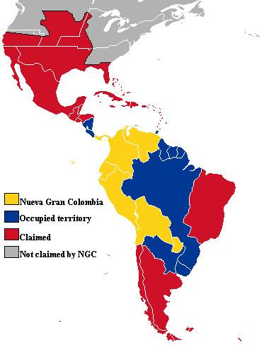 Nueva Gran Colombia Map by lamnay on DeviantArt