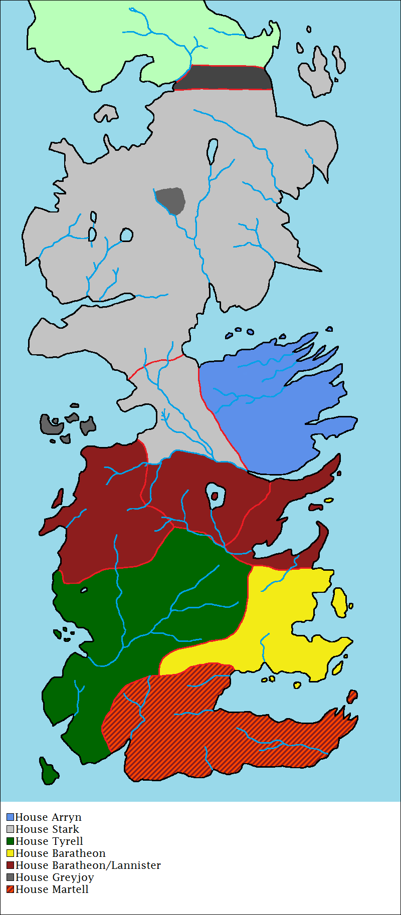 [MAIN SPOILERS] Political map of Westeros as of S7E7 ... |Westeros Map