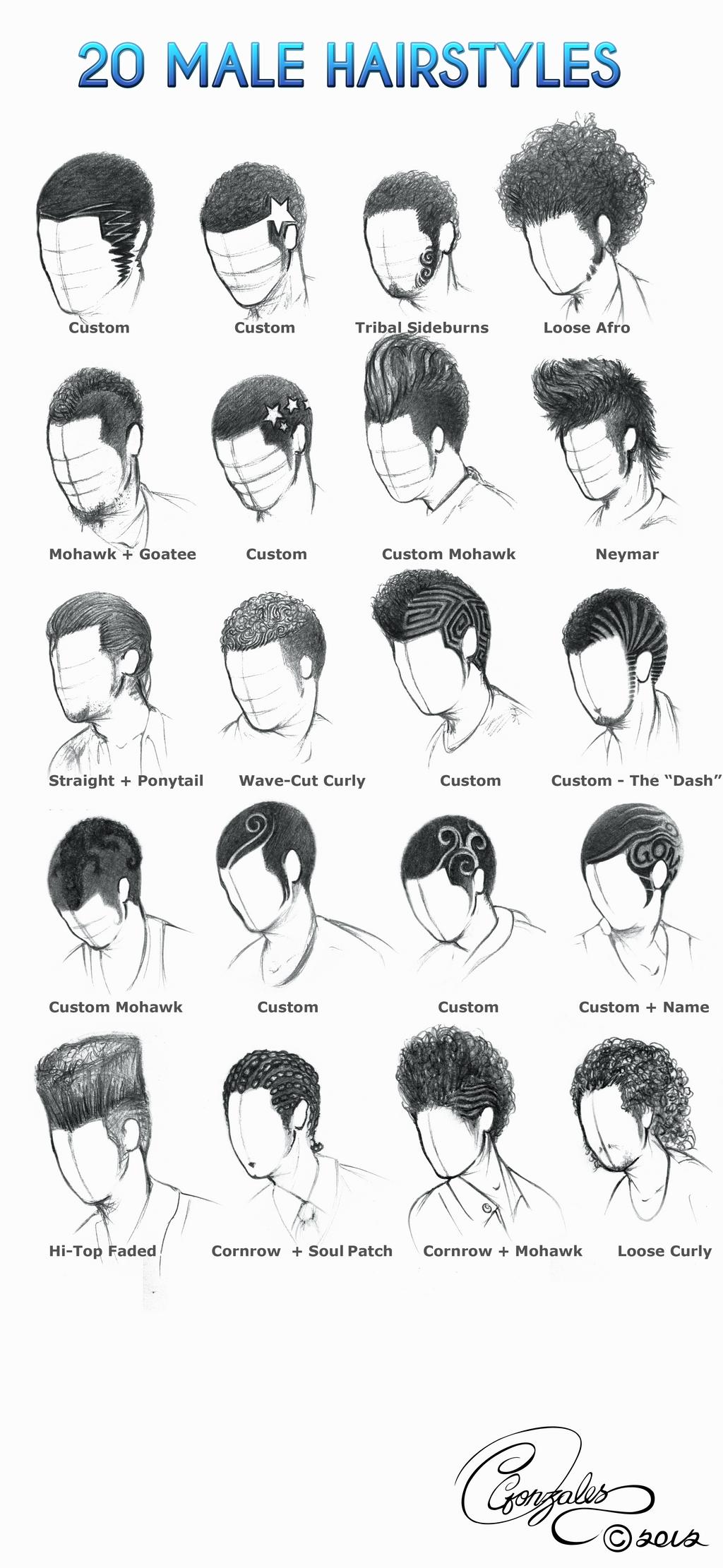 20 Male Hairstyles by gunzy1 on DeviantArt