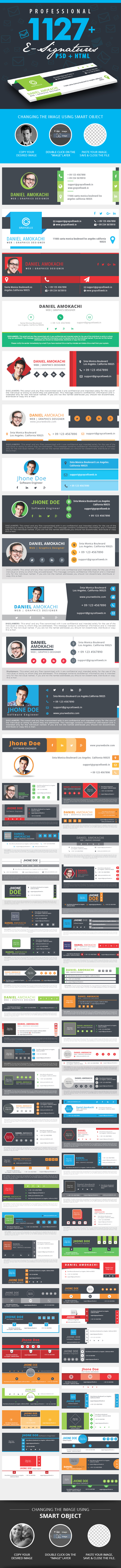 1127 Email Signature PSD + HTML by graycells-graphic on DeviantArt
