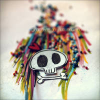 paperskull in technicolor. by Camiloo