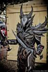 Cosplay Dovahkiin Daedric full armor from Skyrim