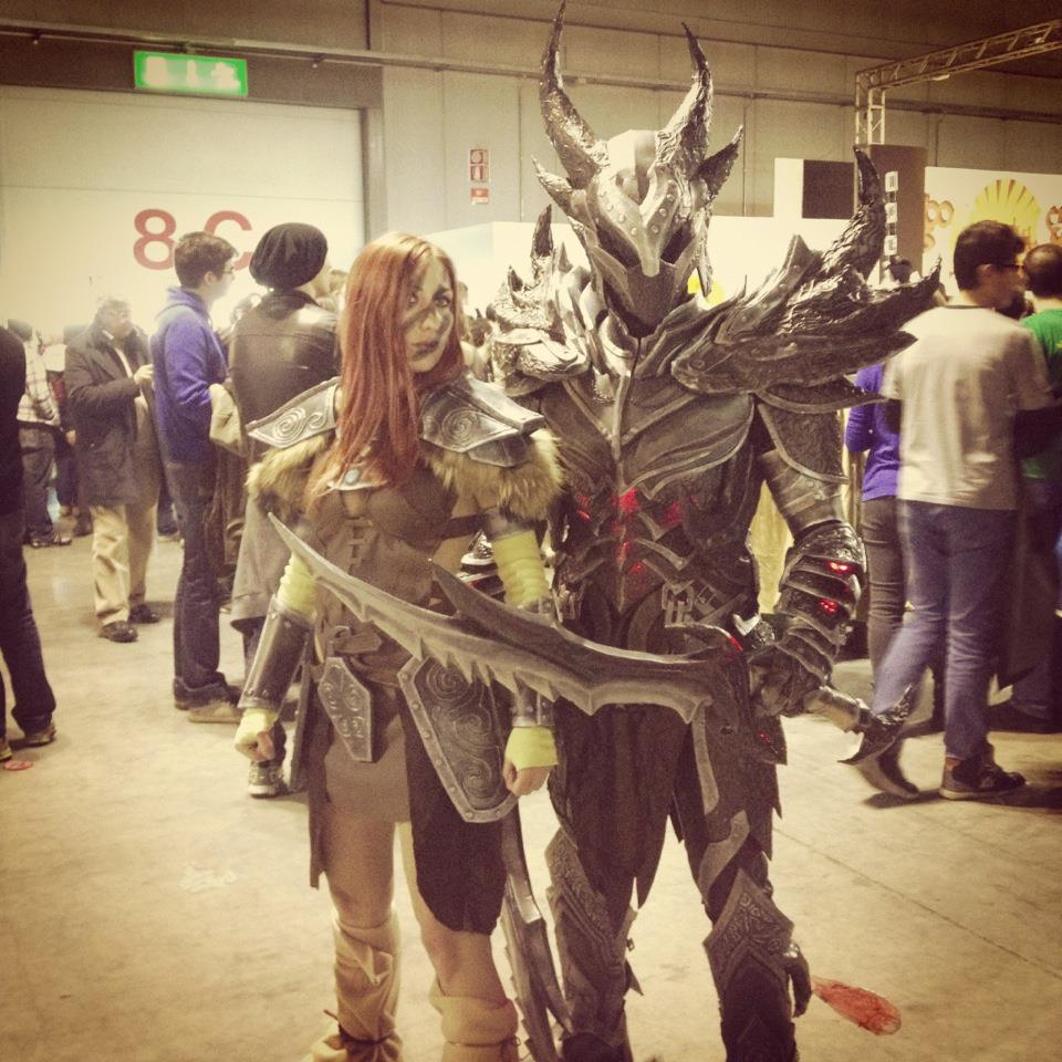 Daedric Dovahkiin and Aela by Zerios88