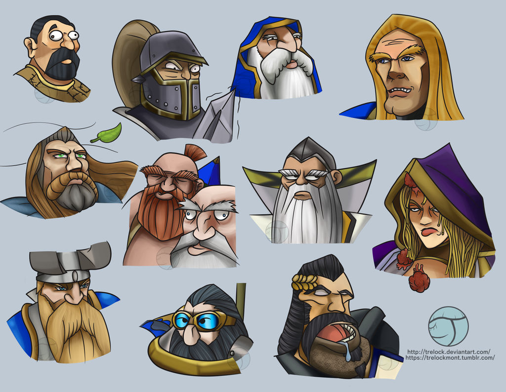Warcraft 3 Portraits Alliance Heads By Trelock On Deviantart
