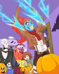 Pumpkin Party at Undyne's
