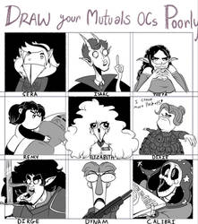 Draw your Mutuals ocs Poorly -or rather Silly Meme