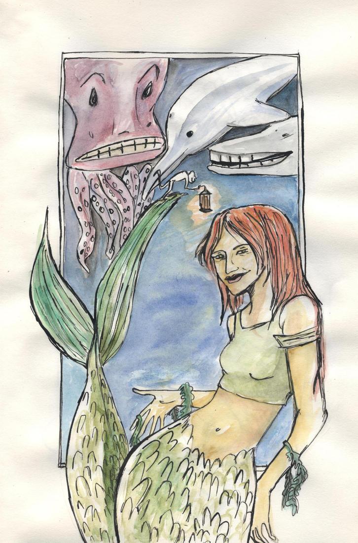 Mermaid by zebree
