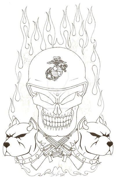 usmc tattoo design bw by vipergts1011 on deviantart. Black Bedroom Furniture Sets. Home Design Ideas