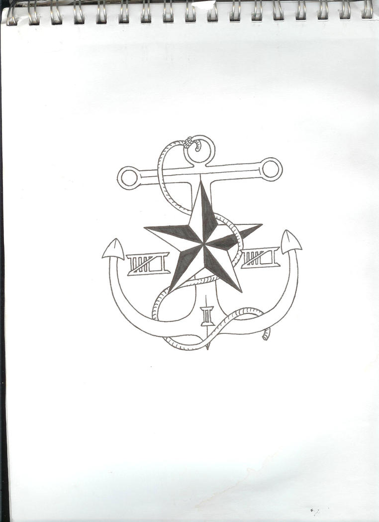 Anchor nautical star tattoo by vipergts1011 on deviantart for Nautical star tattoo design