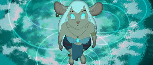 Gadget (as Kida) in the Crystal Chamber by AlexAceves30