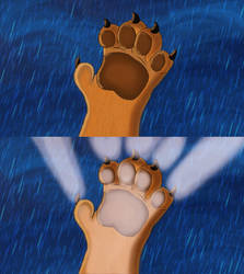 Mufasa's Transformation (hands) by AlexAceves30