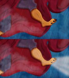 Mufasa's Transformation (feet) by AlexAceves30