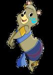 Cindy Bear as Princess Kida by AlexAceves30