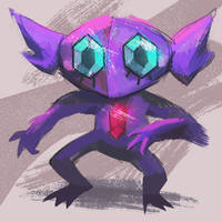 (old) sableye by thegr1mace