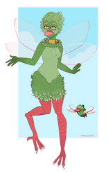 it's not easy being green \\ starbound oc by Paranoid-Sprite