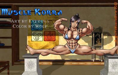 Muscle Korra COLOR by WolfsMuscleGirls