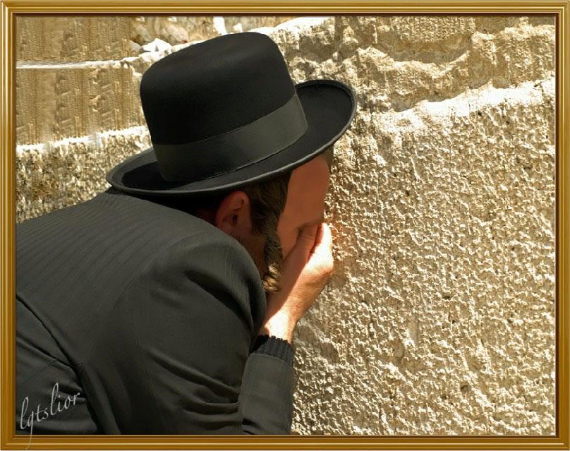 An Intense Moment AtThe Western Wall by Lior-Art