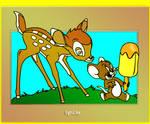 A joyful Moment With Bambi