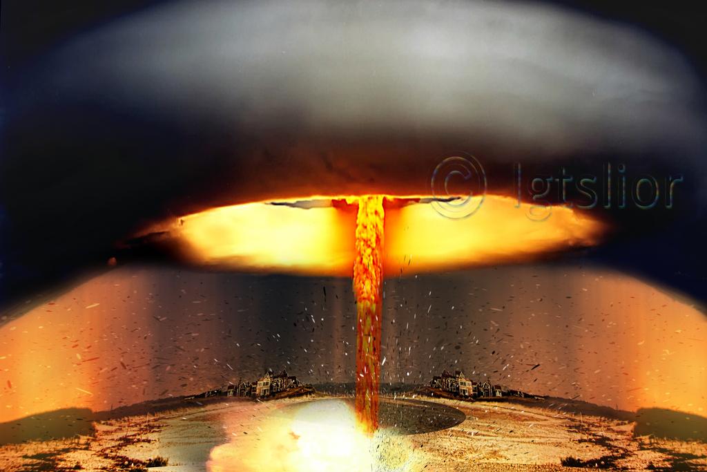 Beneath the atomic mushroom by Lior-Art