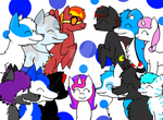 Friend group picture- Read description please! by galaxyghosts