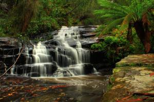 Waterfall Cora Lynne Stock by blaisedrew62