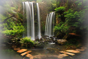 Paradise Waterfall Stock by blaisedrew62