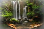 Paradise Waterfall Stock