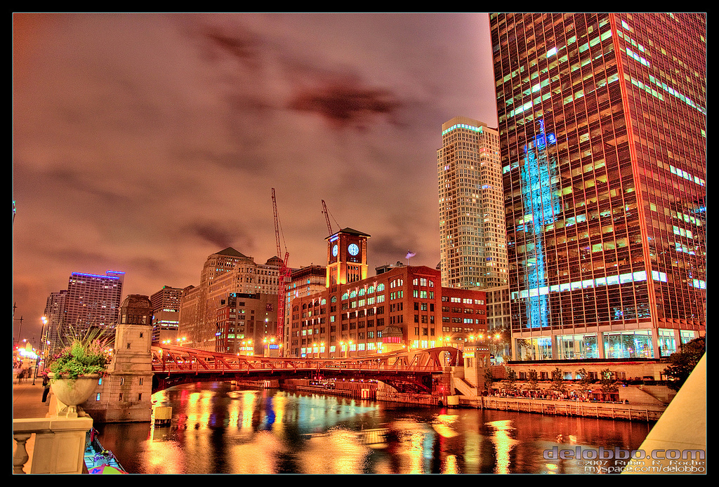 Chicago River HDR by delobbo