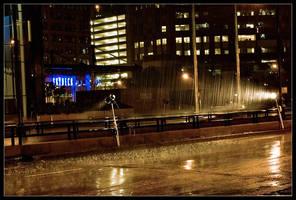 Batman Rain by delobbo