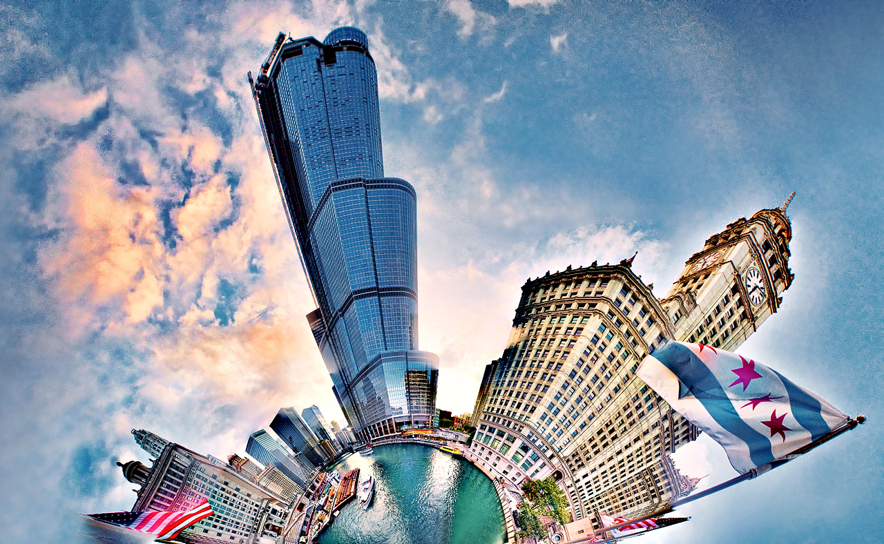 Chicago 25-shot spherical pano by delobbo