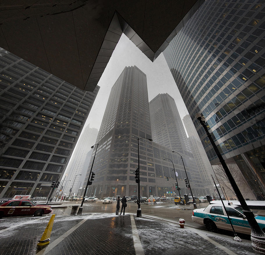 Monroe + Wacker Chicago Feb 10 by delobbo