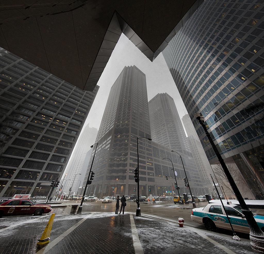 Monroe + Wacker Chicago Feb 10 by delobbo