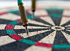 mini-dartboard by delobbo