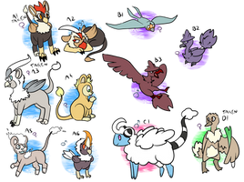 [CLOSED] PKMNation: Lots of pretty babies by Featherkissed