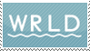 WRLD stamp by Featherkissed