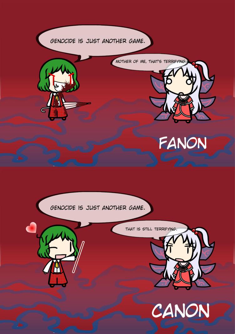 Yuuka's Genocide Quote: Canon VS Fanon by exfodes