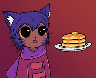 Giving Niko Pancakes by exfodes