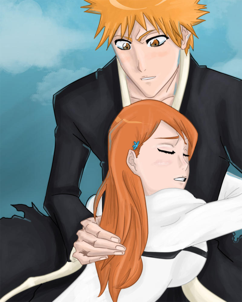 rukias relationship with ichigo and orihime