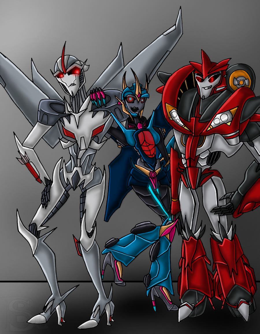 StarScream, SunBlaster, and KnockOut by xSharonthehedgehogx on