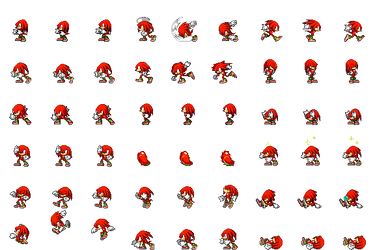 Knuckles Side View Battle for RPG Maker MV by Xabring