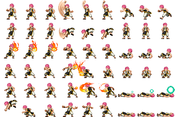 Natsu Player Side View Battle For Rpg Maker Mv By Xabring