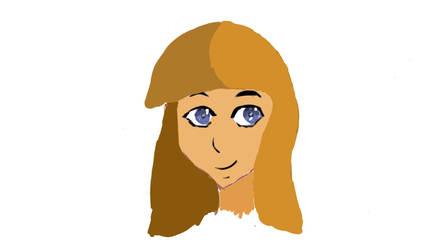 Random anime girl sketch  by Xabring