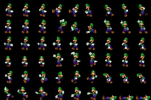 Luigi Side View Luigi DreamTeam by Xabring on DeviantArt