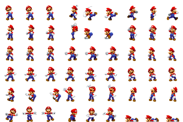 Mario Side View Luigi DreamTeam by Xabring