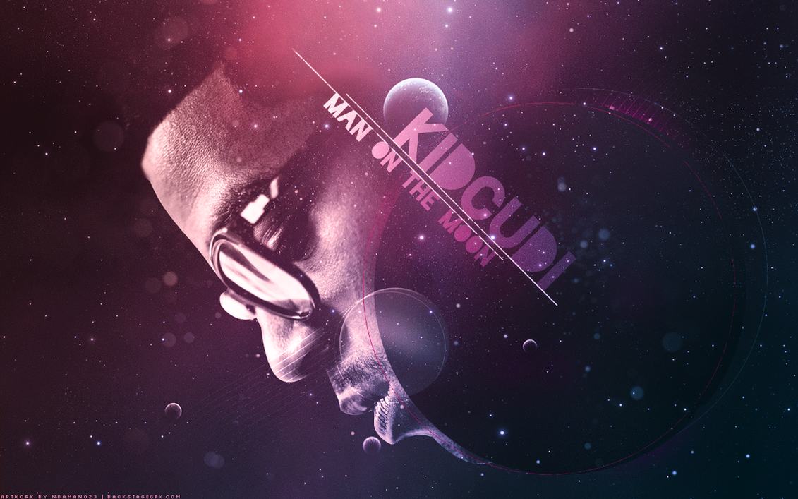 Cool Wallpaper Music Kid - kid_cudi___man_on_the_moon_by_nbaman023  Trends_904973.png