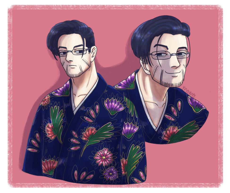 Ogata in a pretty kimono by momo-loves-peaches