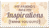 friends are inspirations stamp