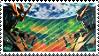 banshee and unicorn stamp by piijenius