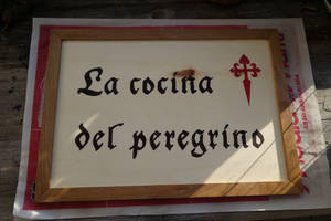 Sign for our camp at medieval festivals