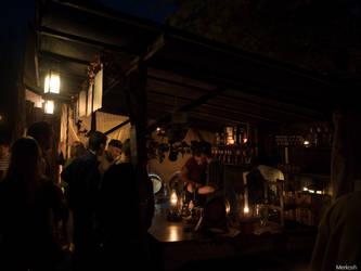 Tavern at night by Merkosh